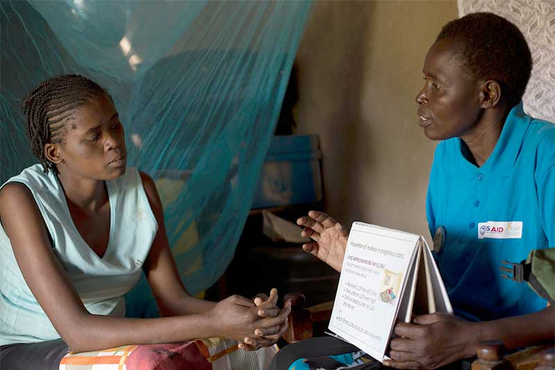 Woman and Health Worker
