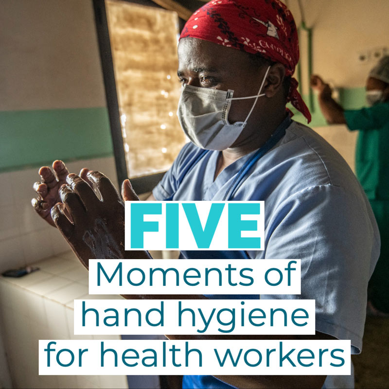 Health Worker Washing Hands