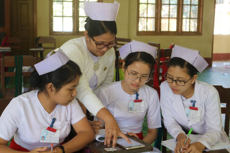 Nurses in training